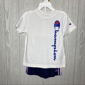 Champion shorts and tshirt set